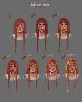 tutorial draw red hair by VeraVoina