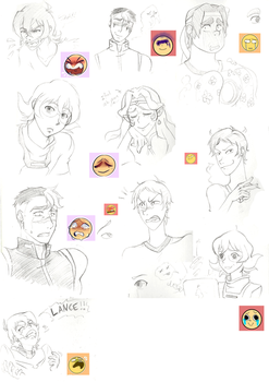 Voltron - tryouts and study expressions by Hatirem