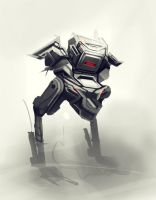 Sunday robot sketch by xyphid
