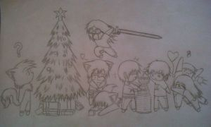 Christmas drawing of doom xD by PenaltyShot99