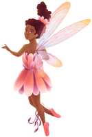 Flower Fairy in Pink by SailingBreezes