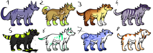CLOSED - Canines Adoptables 290 by LeaAdoptables