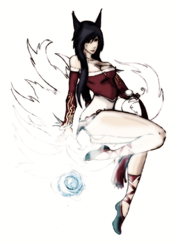 LOL Ahri by trifalien