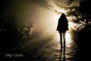A figure in the light... by Magiamal