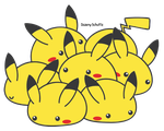 Lot of Pikachus by Daieny