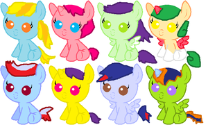 Baby ponies Adoptables by rongothepony