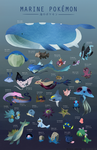 Pokemon of the Sea by Wasil