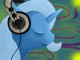 Trixie and headphones by antondrafff