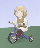 Request:Leonardo with tricycle by Zsoszy