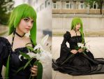 C.C. from Code Geass  Black dress by MMM0Mimi