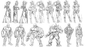 Fantasy Character Design Set 2 by ncajayon