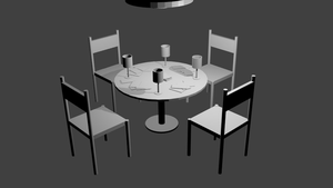 Table and Chairs by pookstar