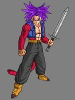 Future Trunks SSJ4 V2 by theothersmen