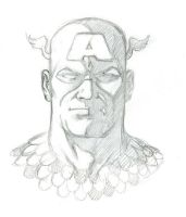 Captain America Sketch by LostonWallace