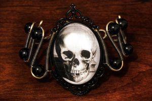 Steampunk Bracelet Skull by CatherinetteRings