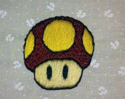 Embroidered Mushroom by starrley
