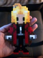 Edward Elric Perler Bead Figure by DarkLilly1991