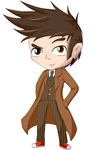 Tenth Doctor Pixel Chibi by GemoDawnChan