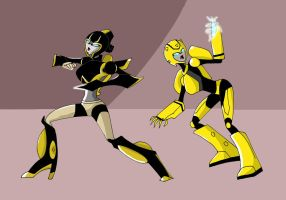 TFA: Prowli and QueenBee by arceeenergon