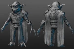 Darth Necros Zbrush model by RedHeretic