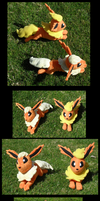 Gift - Flareon Plushies by racingwolf