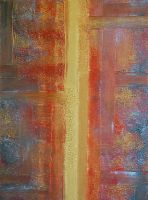 GOLD  ABSTRACT by ARTBYTERESA