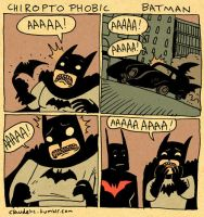 Chiroptophobic Batman by claudetc
