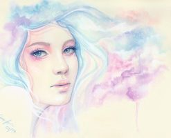 Morning mood-watercolor painting by emmijulin