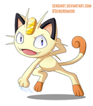 Day 30 - Meowth by SergiART