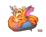 Gnar Sleeping by KittyConQueso