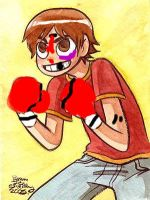 Scott Pilgrim the boxer by Milkinashoe
