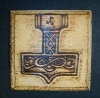 Thor's Hammer wood burning by runehammer9