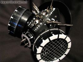 Black-Wht spike out respirator by TheRealEricX