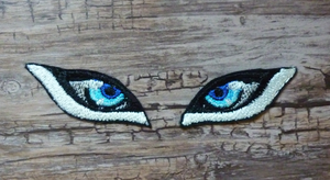 Embroidered eyes test by goiku