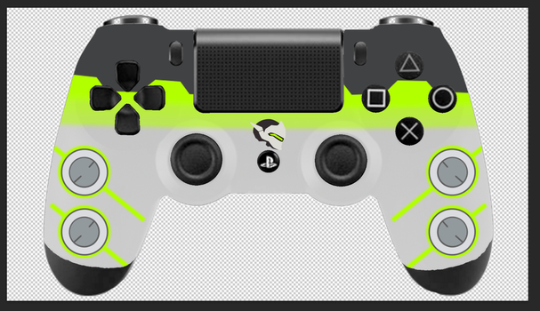 PS4 controller design Genji by StarlightBolt26