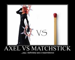 Axel vs Matchstick by toraseishou