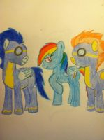 The Wonderbolts with Rainbow Dash. by NotSoCuteAndFuzzy