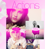 Pink action by shitandhappiness