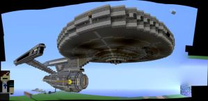 Quest to Capture--The Enterprise by MinecraftPhotography
