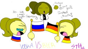 Russian VS. German by Sasha-the-Hedgie
