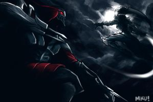 Diana Vs Zed!!! by Mkuchima