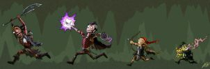 Our little band of ragtag heroes by Lizard-of-Odd