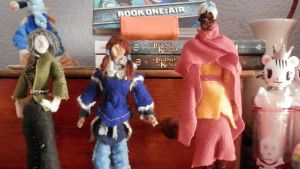 Pipecleaner Lin, Korra and tenzin by pipecleanergirl23