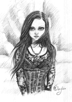 Gothic Young Girl by Obrylin
