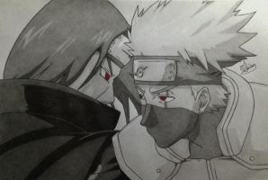 Itachi VS Kakashi by Conzibar