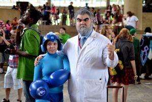 Megaman and Dr Light by JHussey92