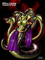 Hiszune Priestess of snakes by D-Pawers