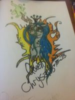 Queen Chrysalis Tattoo Design by XRadioactive-FrizzX