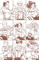 Comic Fiesta Merch Preview - SNK Postcards Set 3-5 by ItoMaki