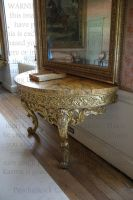 Golden table by PzychoStock